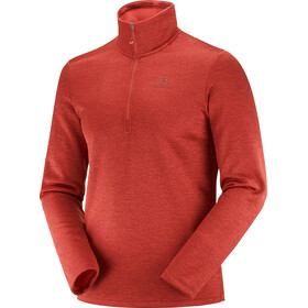 Salomon Transition Half Zip Mid Shirt Men goji berry/heather